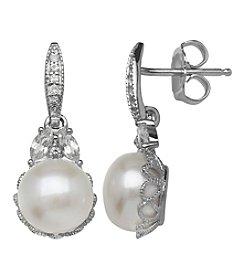 Fine Jewelry Pearl Earrings in Sterling Silver