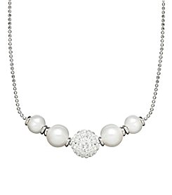 Honora Style® Pearl and Crystal Necklace