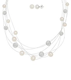 Honora Style® Pearl Necklace and Earrings Set