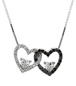 Fine Jewelry Diamond Heart Pendant Necklace in Sterling Silver