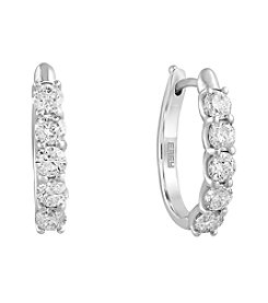 Effy® 1.47 ct. t.w. Diamond Earrings in 14k White Gold