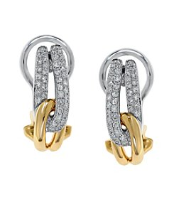 Effy® 0.31 ct. t.w. Diamond Earrings 14k Yellow and White Gold