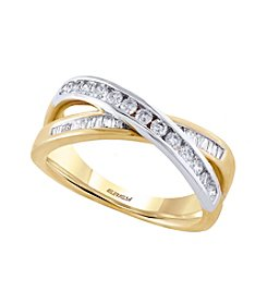 Effy® .48 ct. t.w. Diamond Ring in 14k Yellow and White Gold