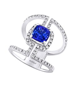 Effy® 0.70 ct. t.w. Diamonds and Tanzanite Ring in 14k White Gold