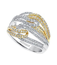Effy® .79 ct. t.w. Diamond Ring in 14k White and Yellow Gold