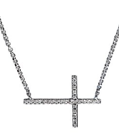 Effy® Pave Classica Collection .09 ct. t.w. Diamond Necklace in 14k White Gold