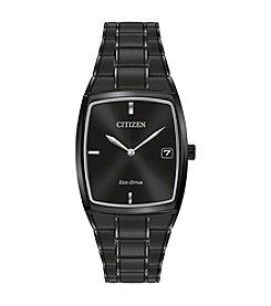 Citizen® Men's Black Stainless Steel Watch