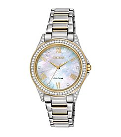 Citizen® Women's Swarovski® Crystal Two-Tone Watch