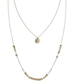 The Sak® Goldtone Double Layer Beaded Necklace