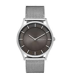 Skagen Denmark Men's Silvertone Holst Watch with Mesh Bracelet