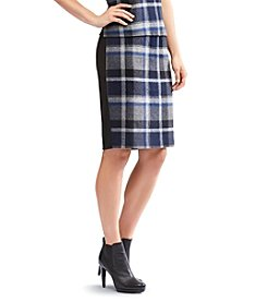 Calvin Klein Plaid Cocktail Skirt