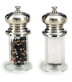 William Bounds The Diner Brushed Top Salt & Pepper Set