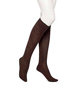 HUE® Brocade Knee Socks