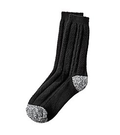 Cuddl Duds® Cable Crew Socks
