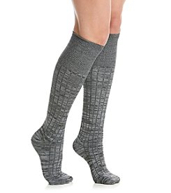 Cuddl Duds® Spacedye Turn Cuff Knee High Socks