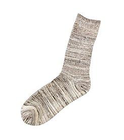 Cuddl Duds® Rib Space Dye Crew Socks