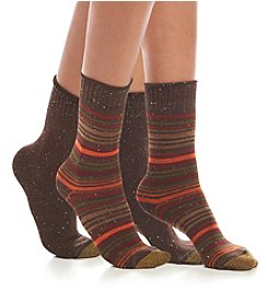 GOLD TOE® 2 Pack Stripe And Solid Boot Socks