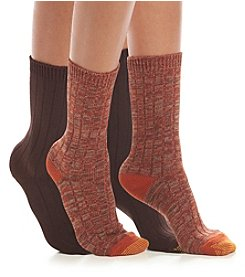 GOLD TOE® 2 Pack Marled Ribbed Boot Socks