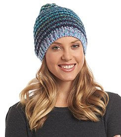 Collection 18 Seed Stitch Rainbow Slouchy Hat
