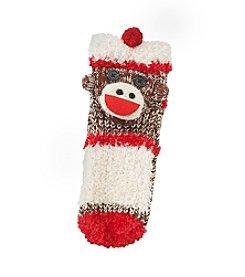 Legale® 3D Monkey Cuff Slipper Socks
