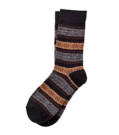 Legale® Wool Blend Fair Isle Crew Socks