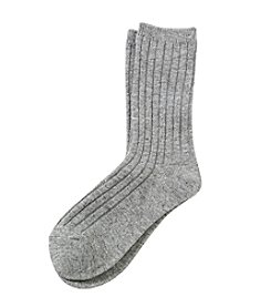 Legale® Wool Blend Ribbed Crew Socks