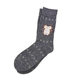 Legale® Wool Blend Owl Crew Socks