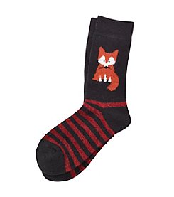 Legale® Wool Blend Fox Crew Socks
