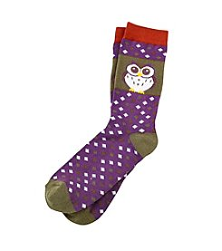 Legale® Patterned Crew Socks With An Adorable Owl
