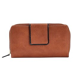 Relativity® Patent Trim Tab Zip-Around Wallet
