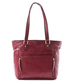 GAL Leather Top Zip Tote