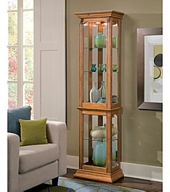 Pulaski Oak Display Cabinet