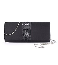 La Regale Multi Bead Center Satin Clutch