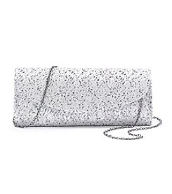 La Regale® Jacquard Flap Clutch
