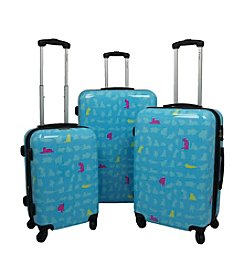 Chariot® 3-pc. Summer ABS Luggage Set
