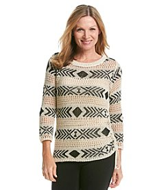 Ruby Rd.® Revival Stripe Side Tie Sweater