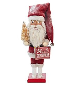 Kurt S. Adler Red and Ivory Santa Nutcracker