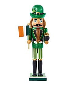 Kurt S. Adler Irish Nutcracker with Flag and Pot of Gold