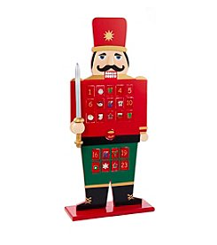 Kurt S. Adler Wooden Advent Calendar Nutcracker