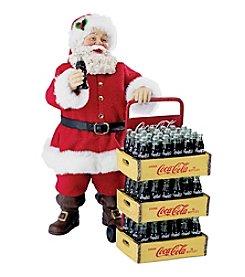Kurt S. Adler 2-pc. Coca Cola® Santa with Delivery Cart Set