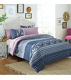 Free Spirit Indigo Floral Mini Bed-in-a-Bag Comforter Set