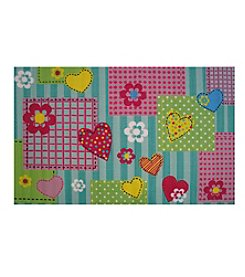 Fun Rugs® Hearts & Flowers Rug