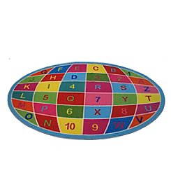 Fun Rugs® Alphanumeric Globe Rug