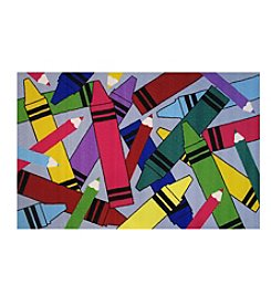 Fun Rugs® Crayons & Pencils Rug