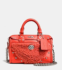 COACH RHYDER SATCHEL 18 IN SHEARLING