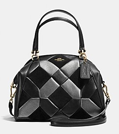 COACH PRAIRIE SATCHEL IN PATCHWORK LEATHER