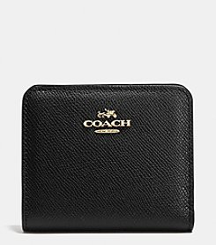 COACH EMBOSSED SMALL WALLET IN LEATHER