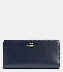 COACH SKINNY WALLET IN COLORBLOCK LEATHER