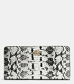 COACH SKINNY WALLET IN COLORBLOCK EXOTIC EMBOSSED LEATHER