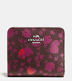 COACH SMALL WALLET IN FLORAL PRINT LEATHER